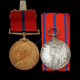 Coronation (Police) Medal Pair 1902 & 1911. Metropolitan Police