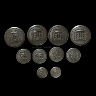 Ten The Queen's Westminters Uniform Buttons