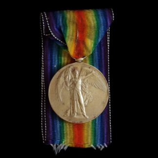 Victory Medal, Private Swann, Rifle Brigade, Low service number