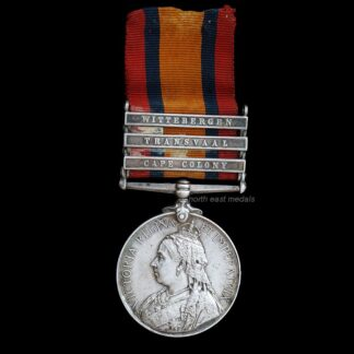 Queen's South Africa Medal Three Clasps, Private Sissons, East Yorkshire Regiment