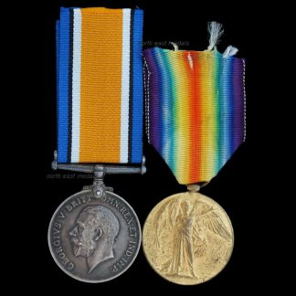 British War & Victory Medal Pair Private Gear, Liverpool Regiment