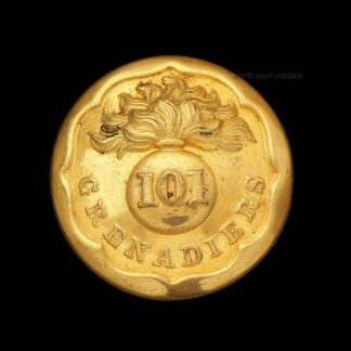 Indian 101 Grenadiers Officers Uniform Button