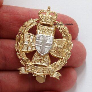 Inns of Court & City Yeomanry Staybrite Anodised Aluminium Cap Badge