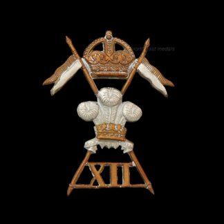 12th Lancers Cap Badge