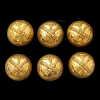 French Colonial Artillery Uniform Buttons (6)