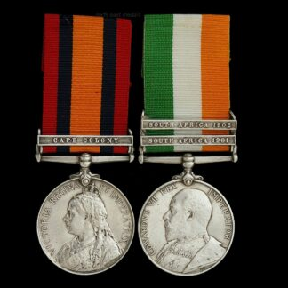 Queen's and Kings South Africa Medal Pair. Private Collett, Middlesex Regiment