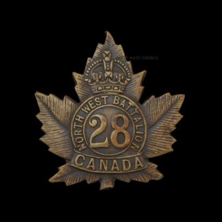 28th Battalion CEF Canadian Expeditionary Force Collar Badge