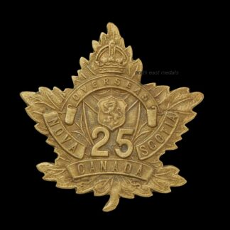 25th Battalion CEF Canadian Expeditionary Force Cap Badge Badge