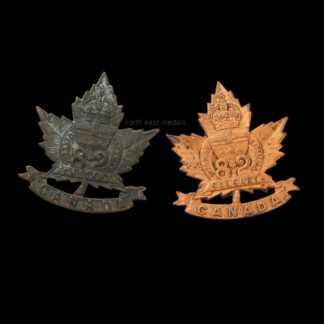 Two 82nd Battalion CEF Canadian Expeditionary Force Collar Badges