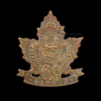 69th Battalion CEF Canadian Expeditionary Force Collar Badge