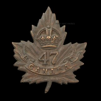47th Battalion CEF Canadian Expeditionary Force Collar Badge