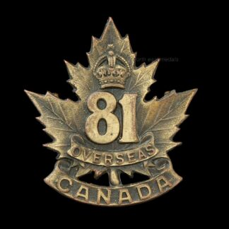 81st Battalion CEF Canadian Expeditionary Force Cap Badge