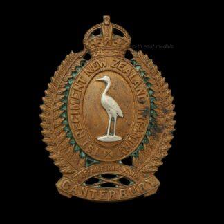 New Zealand 1st Canterbury Regiment Cap Badge