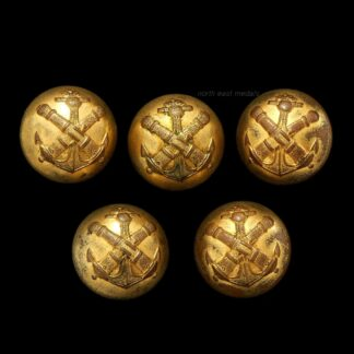 French Colonial Artillery Uniform Buttons (5)