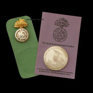 Birmingham Mint Northumberland Fusiliers 'Great British Regiment' Silver Medal