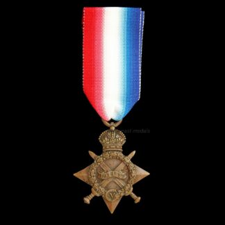 1914-15 Star Medal, Bostock Royal Field Artillery (Low Number) Shell Shock. Shot in Jaw