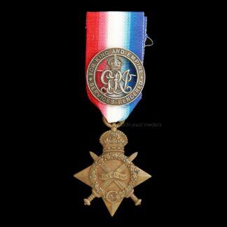 1914-15 Star Medal and Silver War Badge, Watson, Royal Naval Reserve