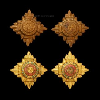Two Similar Pairs of Officers Rank Stars/Pips Badges- Gilt and Brass