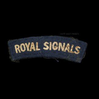 Royal Corps of Signals Cloth Shoulder Title Badge