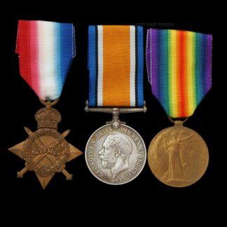 1914-15 Star Medal Trio Hearn, British Red Cross O.S.J.J