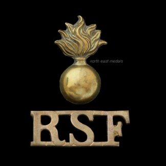 Royal Scots Fusiliers Two Part Shoulder Title Badge