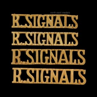Two Pairs of Royal Corps of Signals Shoulder Title Badges