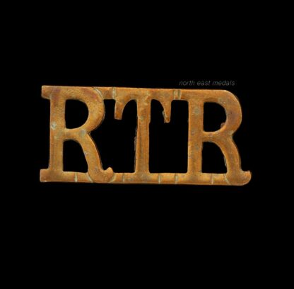 WW2 Royal Tank Regiment Shoulder Title Badge