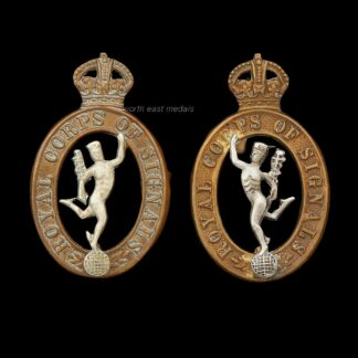 Pair of WW2 Royal Corps of Signals Collar Badges