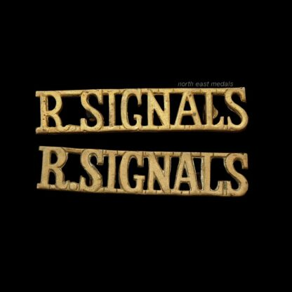 Pair of Royal Corps of Signals Shoulder Title Badges