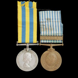 Queen's Korea Medal Pair, Craig, Army Catering Corps