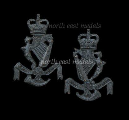 Pair of Royal Ulster Rifles Collar Badges Post 1957