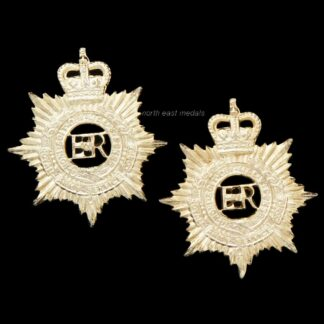 Pair of Royal Army Service Corps RASC Staybrite Collar Badges