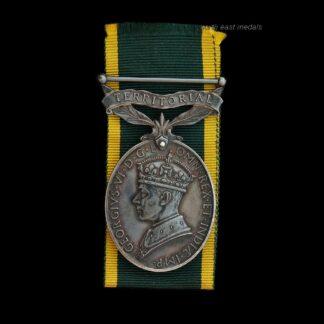GVIR Efficiency Medal (Territorial) Suffolk Regiment