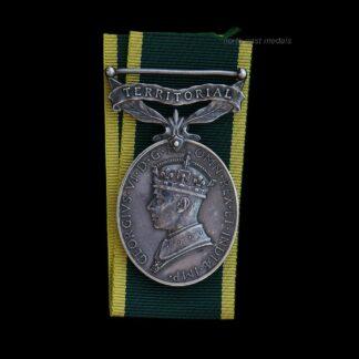GVIR Efficiency Medal Driver Hardie. RASC Drowned on Active Service Egypt
