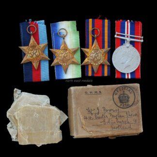 WW2 Navy 4 Medal Group Edinburgh Recipient. Inc Atlantic & Burma Star