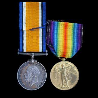 British War & Victory Medal Pair Gunner Holding, Royal Artillery