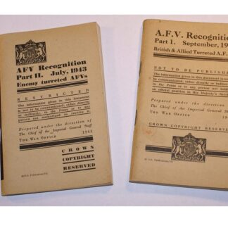 WW2 1942/3 Armoured Fighting Vehicle AFV Recognition Books Part 1 & 2