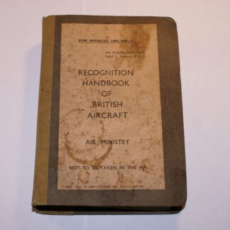 WW2 1942 Official RAF Air Ministry Recognition Handbook of British Aircraft