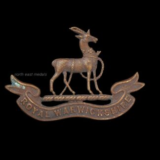 Royal Warwickshire Regiment Officers OSD 'Bronze' Collar Badge
