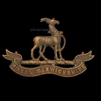 Royal Warwickshire Regiment Officers OSD Bronze Collar Badge