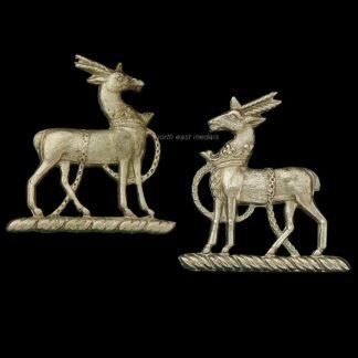 Two Royal Warwickshire Regiment Collar Badges