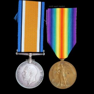 British War & Victory Medal Pair, Snelling, East Yorkshire Regiment