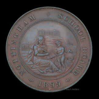 1899 Nottingham School Board Attendance Medal