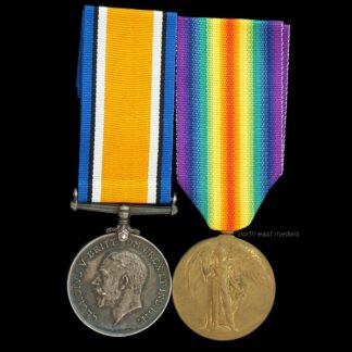 British War and Victory Medal Pair Private Ward, East Yorkshire Regiment