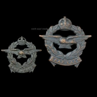 South African Air Force Cap Badge and Collar Badge (defective)