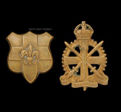 Two Odd Army Collar Badges Army Apprentice School and Loyal Regiment