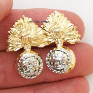RRF Royal Regiment of Fusiliers Staybrite Collar Badges