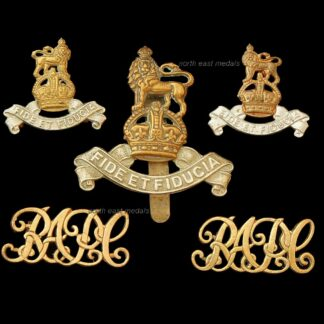 Royal Army Pay Corps RAPC Cap Collar and Shoulder Title Badge Set