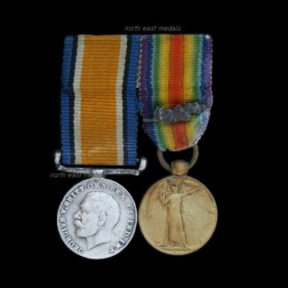 Vintage Miniature British War & Victory Medal Pair MID