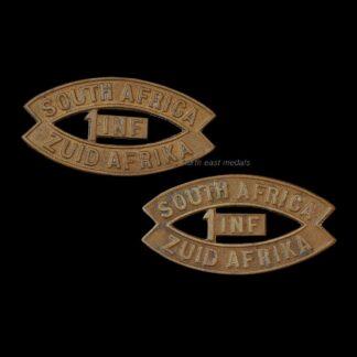 WW1 1st South African Infantry Brigade Shoulder Title Badges